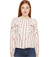 Intropia - Striped Blouse w/ Ruffles