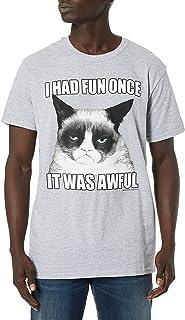 T-Line Men's Grumpy Cat Fun Once T-Shirt