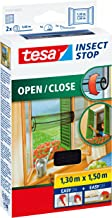 tesa Insect Stop Comfort Open/Close Vliegenhor - Rolhor - Raamhor met klittenband - Speciaal oprolsysteem, snij op maat - ...