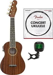 Fender Grace VanderWaal Signature Concert Ukulele, Natural with Bag, Strings & Tuner
