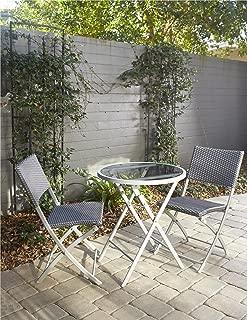 Cosco Outdoor Living 87631BGBE Cosco Outdoor Bistro Set, Blue/Gray