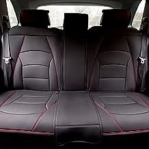 FH Group PU205013BLACKREDTRIM Bench PU205BLACKREDTRIM013 Ultra Comfort Leatherette Rear Seat Cushions Black with Red Trim