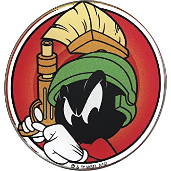 Trucks Almost Anything LNI Australia 9672-068 Windows Motorcycles Laptops Automotive Emblem Sticker Applies Easily to Cars Fan Emblems Looney Tunes Marvin the Martian Character Car Decal Domed//Multicolor//Clear