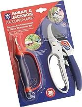 Spear & Jackson CUTTINGSET1 Razor-Sharp Ratchet Secateurs and 6-in-1 Blade Sharpener
