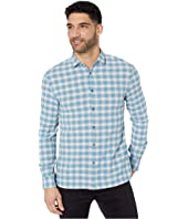 Fulton Slim Fit Long Sleeve Sport Shirt, Clean Front, Button W671V4B