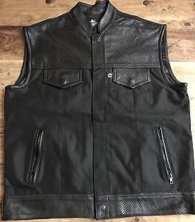 vest gilet biker ibrido Cordura e Pelle stile sons of anarchy