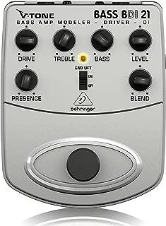 Behringer V-Tone Bajo conductor DI amplificador de bajo BDI21 Modeler/Caja Directa Grabación Preamp/DI