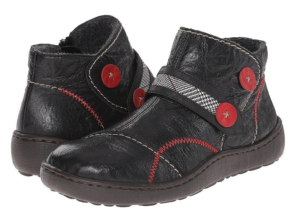 Rieker 44494 Simona 94 (Black Leather) Women
