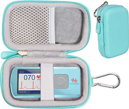 discount GETGEAR case for EKG/ECG Heart Rate Monitor Like SonoHealth, EMAY, OXPROVO, CONTEC, Facelake Note: discount CASE ONLY online sale (Mint Green) outlet online sale