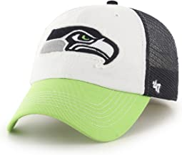NFL Seattle Seahawks Embroidered Cotton Twill & Mesh Stretch Fit Cap by '47
