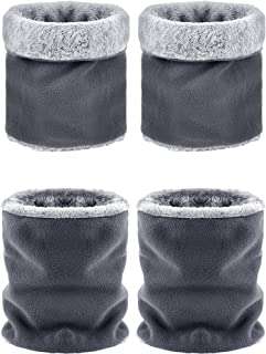 4 Pieces Kids Winter Neck Warmer Double-layer Thick Scarf Soft Fleece Neck Gaiter for Boys Girls