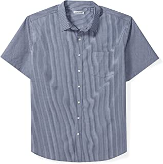 Amazon Essentials Men's Big & Tall Short-Sleeve Stripe Shirt fit by DXL