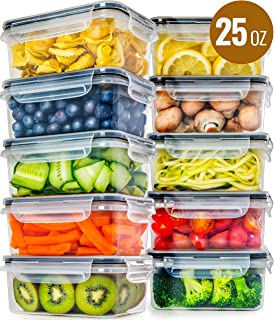 Food Storage Containers with Lids [10 Pack, 25 Ounce] - Food Containers with Lids Plastic Containers with Lids - Leak Proof Lunch Containers Plastic Storage Containers with Lids Meal Prep Containers