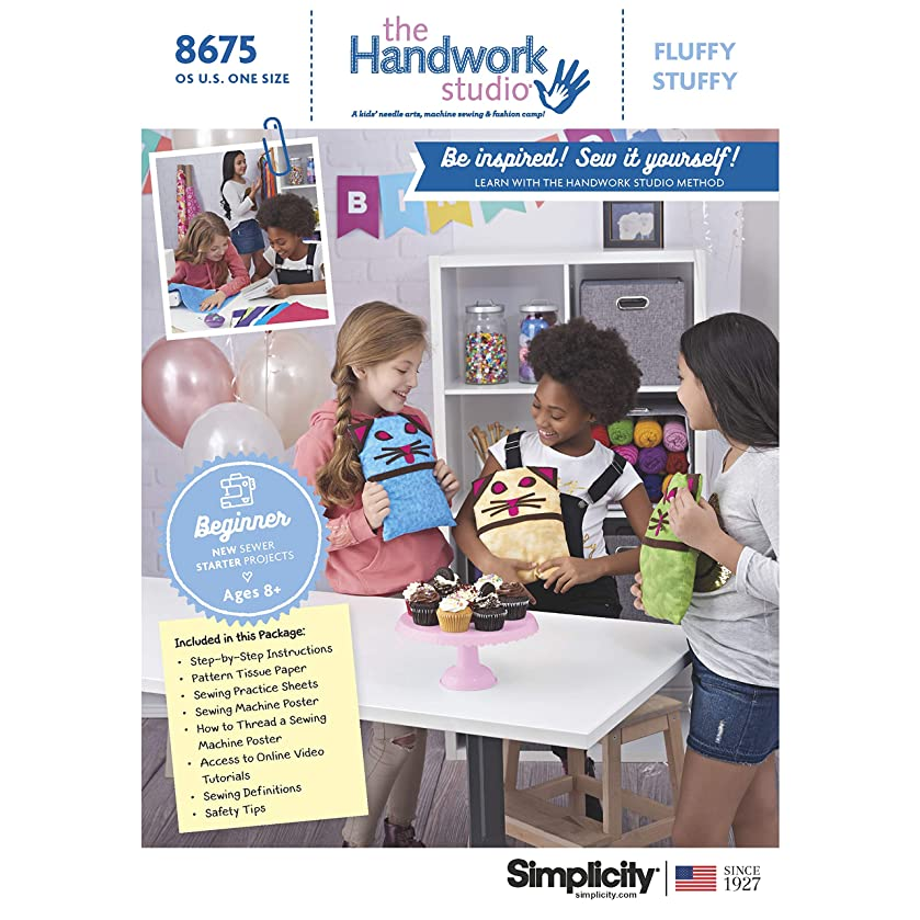 Simplicity Sewing Pattern D0955 / 8675 - Handwork Studio: Fluffy Stuffy, OS (ONE Size)