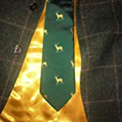 KRAWATTENDACKEL Jagd Krawatte Gr/ün Hirsch Krawatte Gold