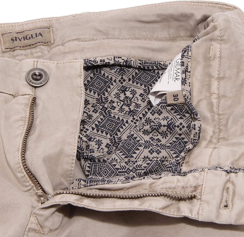 Siviglia 0484K Pantalone Uomo Denim Core Beige Garment Dyed Jeans Trouser Man Beige/Tortora