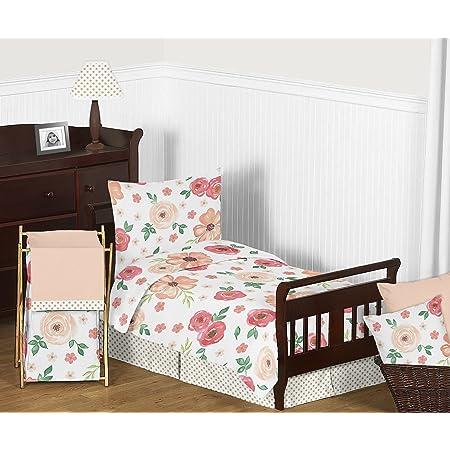 Child/'s Peach Floral Pillowcase Dress Size 2
