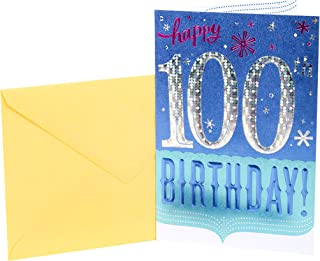 Hallmark 100th Birthday Card (Confetti)