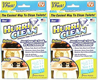 Hurriclean 3-Pack Automatic Toilet Cleaner, As Seen on TV - 2 Sets