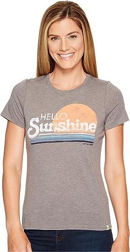 Life is Good - Hello Sunshine Stripe Cool Tee