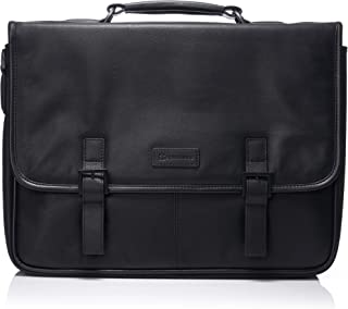 Alpine Swiss Men's Genuine Leather Laptop Briefcase Flap Over Messenger Bag
