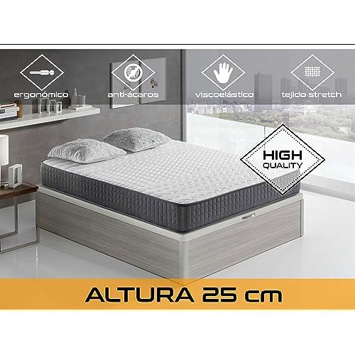 Dormi Premium Velvet 25 FM - Colchón Viscoelástico, 140 x 200 x 25 cm,