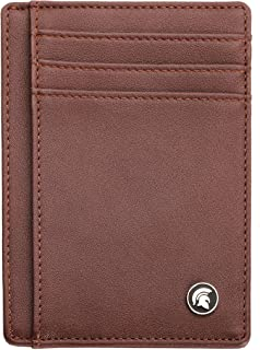POWR Mens Wallet, Slim RFID Blocking Minimalist Credit Card Holder (Dark Brown), Holds up to 7 Cards and Bank Notes, Ideal...