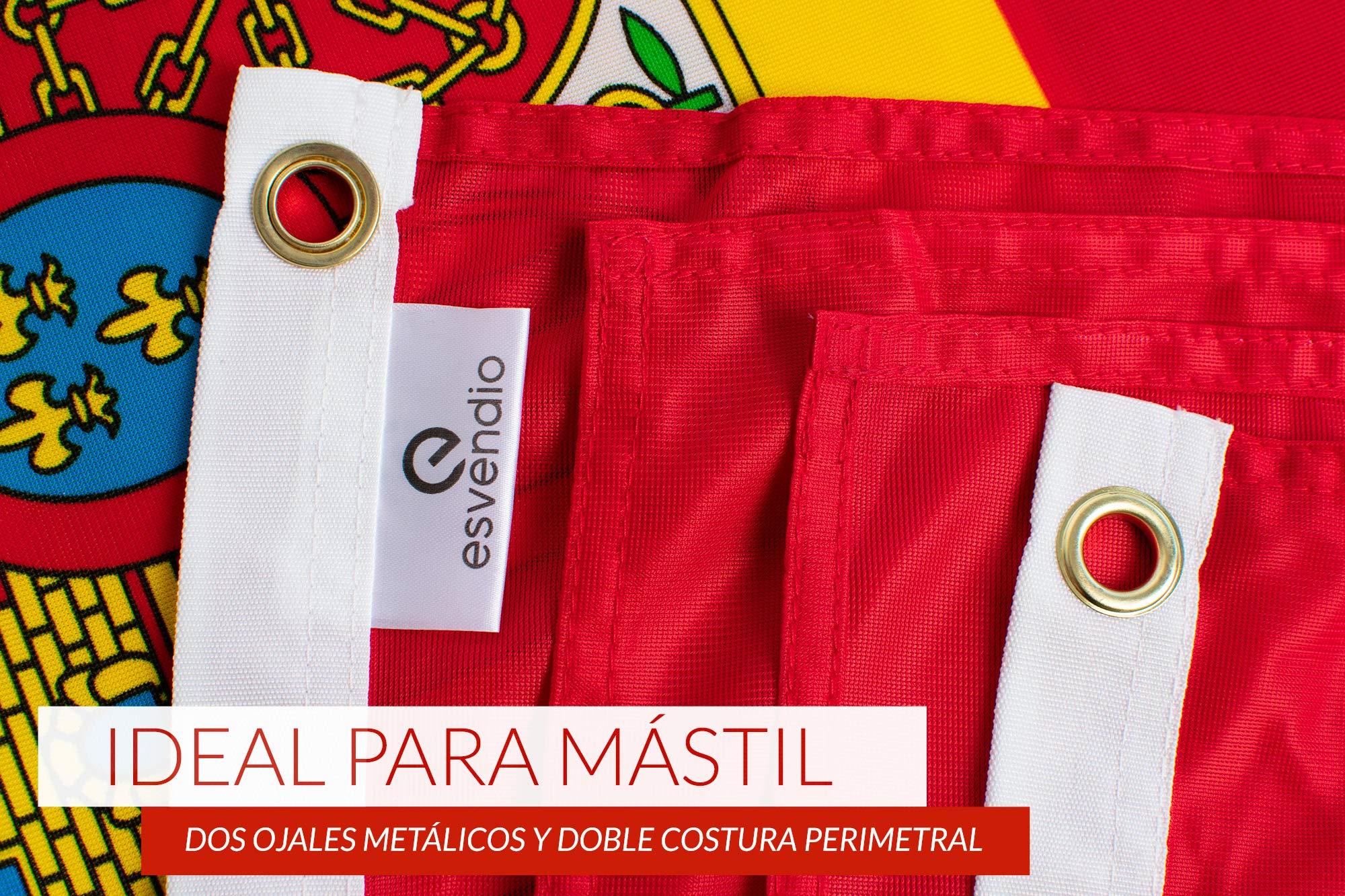 esvendio Bandera de España de Tela Fuerte (2pcs), Bandera Española Grande para Exterior 150x90 cm: Amazon.es: Jardín
