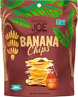 """BBQ Flavored Chips , Gluten-Free Healthy Snacks for Adults & Kids – Vegan & Paleo Approved – A """"Potato Chip"""" That's Good For You (Made From 100% Real Banana) (Hickory BBQ, 1)"""