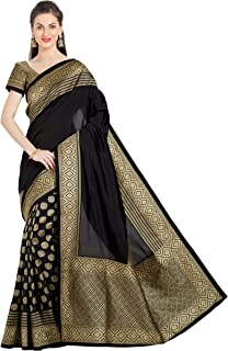 Viva N Diva Sarees for Women's Embroidery Saree with Un-Stiched Blouse Piece,Free Size