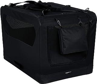 AmazonBasics Premium Folding Portable Soft Pet Dog Crate Carrier Kennel - 36 x 24 x 24 Inches, Black