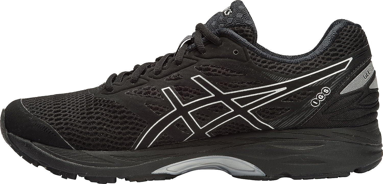 ASICS herr Gel -Cumulus 18 springaning skor, svart svart svart  silver  svart, 9.5 D (M) US  i lager