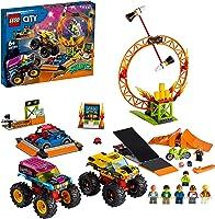 LEGO 60295 City Stuntz Stuntshow Arena Bouwset met 2 Monster Trucks, 2 Speelgoedauto's, Motor met Vliegwielaandrijving,...