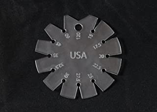 Bevel Gauge 15°-120° Clear Acrylic - Made in America