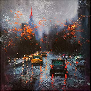 Trademark Fine Art New York on a Stormy Day by Chin H. Shin, 18x18, Multiple Colors