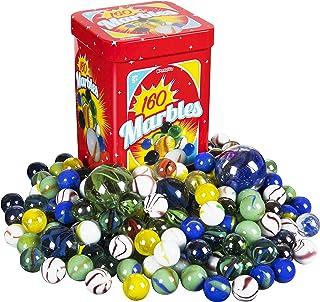 Kangaroo Marble Set - 160; Marbles Game, in a Tin Box