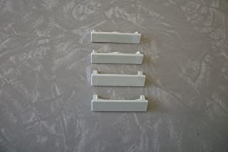 Hunter Douglas Old Style Duette & Applause Bottom Rail End Caps (Off White) 2 Pairs
