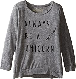 Always Be A Unicorn 3/4 Pullover (Big Kids)