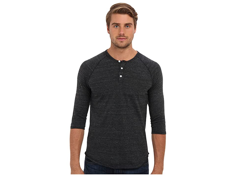 Alternative 3/4 Raglan Henley (Eco Black) Men