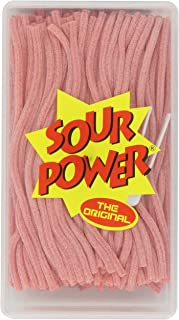 Sour Power Pink Lemonade Flavored Candy Straws, 49.4 Ounce