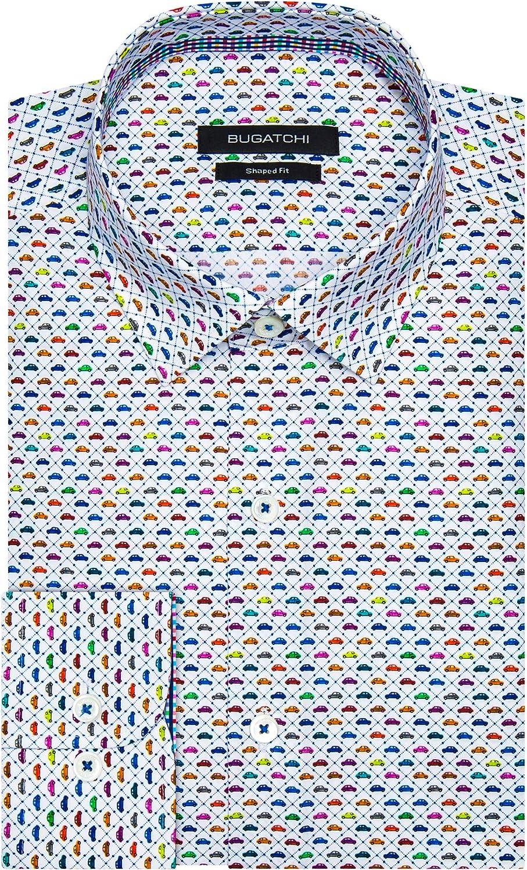 Bugatchi Men's Shaped Superior Shirt Superior Fashion
