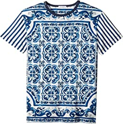 Dolce & Gabbana Kids - Capri Striped Maiolica T-Shirt (Big Kids)