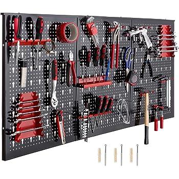 crochets Gris 50 cm Panneaux muraux de rangement pour outils