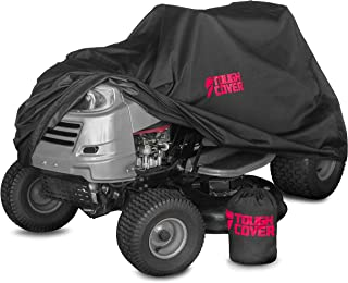 """Tough Cover Premium Lawn Tractor Cover for 48"""" Deck. Heavy-Duty 600D Marine Grade Fabric Featuring Double Stitched Seams &..."""