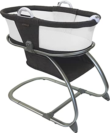 Luxe Premium Quality Baby Planet Oasis Breathable Mesh Convertible Bassinet (Graphite)