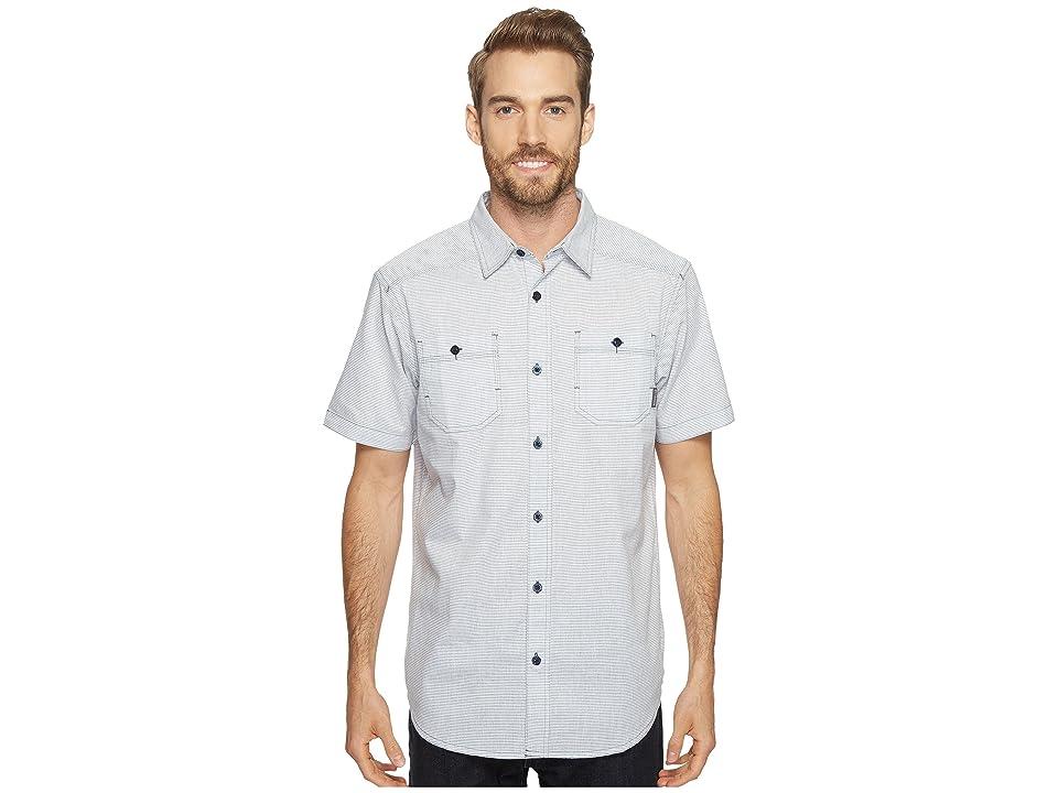 Columbia Sage Butte Short Sleeve Shirt (Zinc Stripe) Men