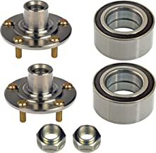 DTA D930455510073 x2-2 Front Wheel Hub Wheel Bearing Kits Left and Right Fits Acura TL, TSX; Honda Accord V6 or Manual Only; Civic Si Model Replaces Dorman 930-455, 510073