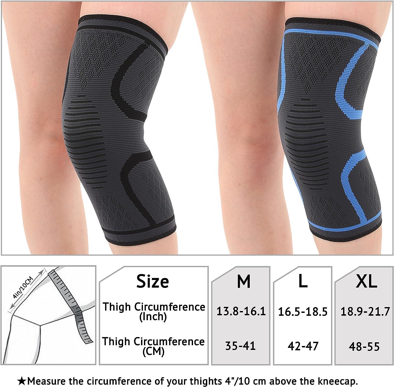 FREEMASTER Knie Bandagen Knieschoner Elastisch Sport Atmungsaktiv Kniegelenk Kompression