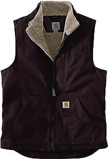 Carhartt Men's Sherpa Lined Mock-neck Vest Work Utility Outerwear