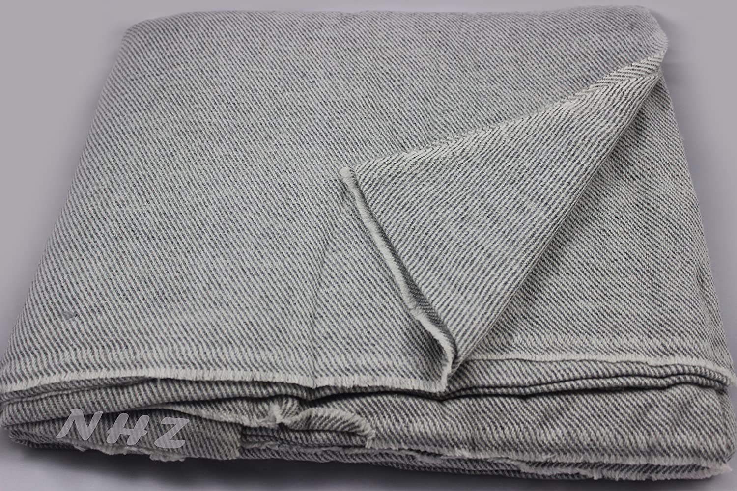 Brown Handicraft Mart Himalayan Extra Large Cashmere Throw,Natural Cashmere Blanket 90 x 108,Hand Made in Nepal /…